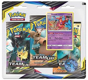 Pokemon Trading Card Game: Sun & Moon (SM9) Team Up 3-Pack Blister A