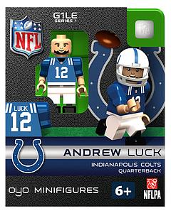 NFL Football Minifigures: Andrew Luck (Indianapolis Colts)