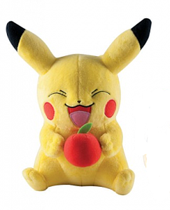 "Pokemon Plush Pikachu with Apple (11"")"