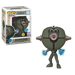 Pop! Games Fallout Vinyl Figure Assaultron (Glows in the Dark) #386 2018 Fall Convention Exclusive