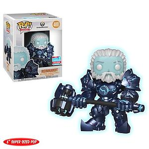 "Pop! Games Overwatch Vinyl Figure 6"" Reinhardt (Coldhardt) (Glows in the Dark) #400 2018 Fall Convention Exclusive"