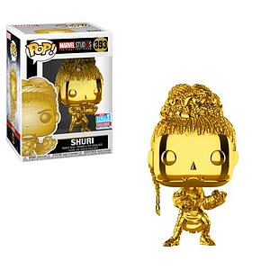 Pop! Marvel Studios The First Ten Year Vinyl Bobble-Head Shuri (Gold Chrome) #393 2018 Fall Convention Exclusive