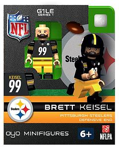 NFL Football Minifigures: Brett Keisel (Pittsburgh Steelers)