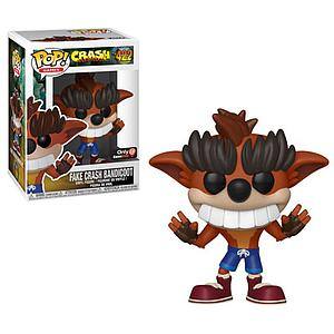 Pop! Games Crash Bandicoot Vinyl Figure Fake Crash Bandicoot #422 GameStop Exclusive (with EB Games Sticker)