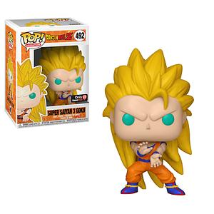 Pop! Animation Dragon Ball Z Vinyl Figure Super Saiyan 3 Goku #492 GameStop Exclusive (with EB Games Sticker)