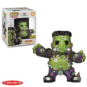 "Pop! Games Overwatch Vinyl Figure 6"" Roadhog (Junkenstein's Monster) #382 Hot Topic Exclusive"