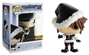 Pop! Disney Kingdom Hearts Vinyl Figure Sora (Christmas Town) #449 Hot Topic Exclusive