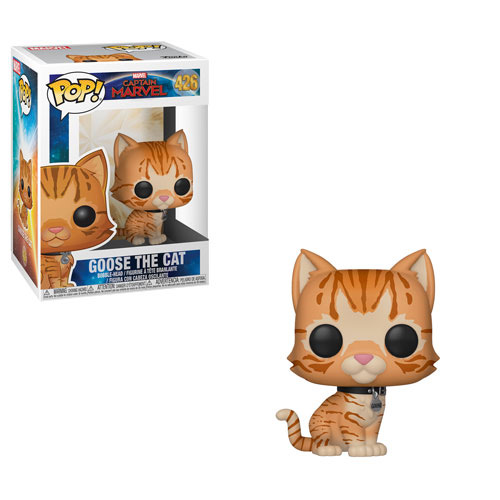 Pop! Marvel Captain Marvel Vinyl Bobble-Head Goose the Cat #426