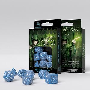 Elvish 7-Dice Set: Glacier & White