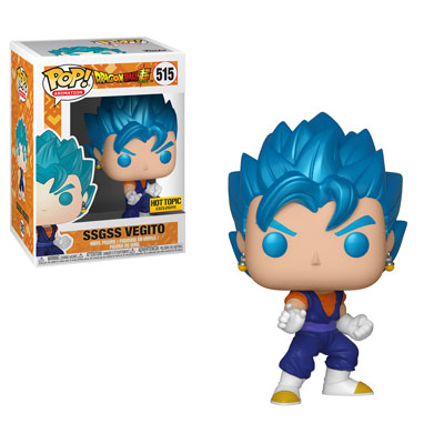Pop! Animation Dragon Ball Super Vinyl Figure SSGSS Vegito (Metallic) #515 Hot Topic Exclusive