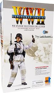 "Dragon Models 1/6 (12"") Scale Action Figure WWII Leningrad 1942-43 WH Spanish Volunteer LMG Gunner Diego Lopez-Navarro"