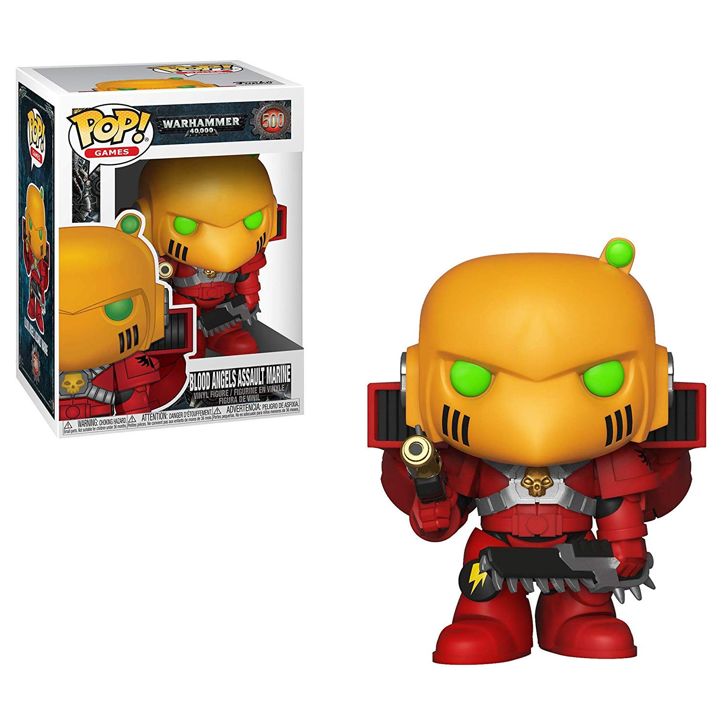 Pop! Games Warhammer 40,000 Vinyl Figure Blood Angels Assault Marine #500