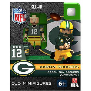 NFL Football Minifigures: Aaron Rodgers (Green Bay Packers)