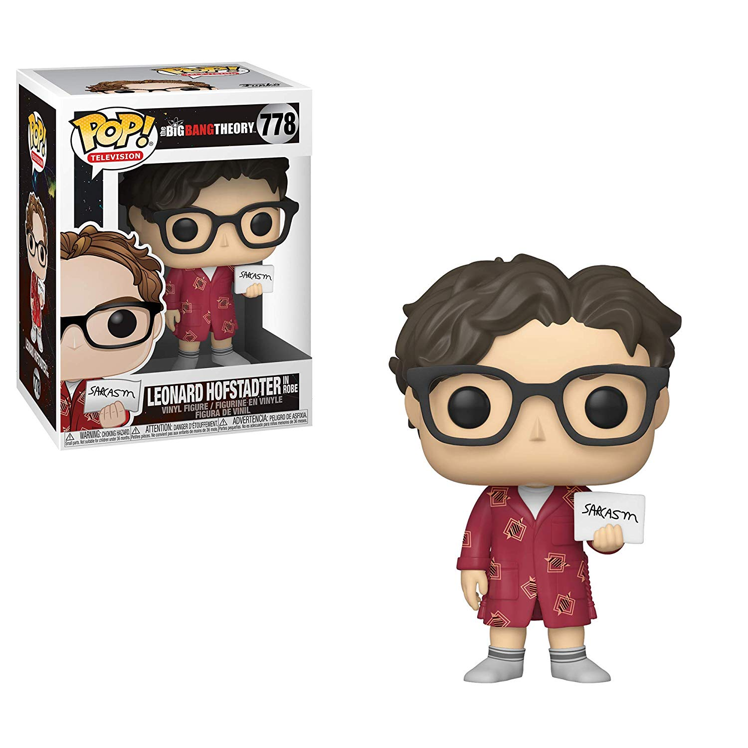 Pop! Television The Big Bang Theory Vinyl Figure Leonard Hofstadter in Robe #778