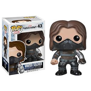 Pop! Marvel Captain America The Winter Soldier Vinyl Bobble-Head Winter Soldier Unmasked #43 (Vaulted)