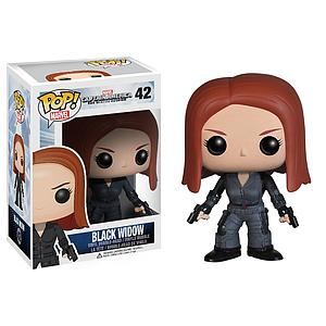 Pop! Marvel Captain America Winter Soldier Vinyl Figure Black Widow #42 (Vaulted)