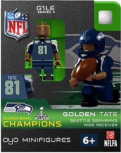 NFL Football Minifigures: Golden Tate (Seattle Seahawks) Super Bowl XLVIII Champions