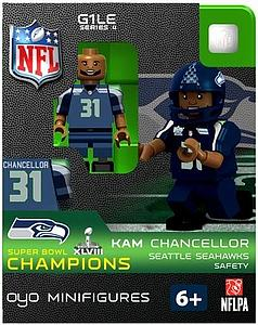 NFL Football Minifigures: Kam Chancellor (Seattle Seahawks) Super Bowl XLVIII Champions