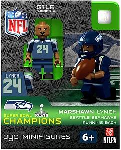 NFL Football Minifigures: Marshawn Lynch (Seattle Seahawks) Super Bowl XLVIII Champions