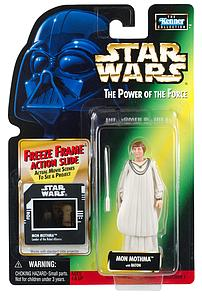 "Star Wars The Power of the Force Freeze Frame 3.75"" Action Figure Mon Mothma (Trilingual Package)"