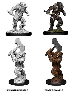 Dungeons & Dragons Nolzur's Marvelous Unpainted Miniatures: Wereboar and Werebear