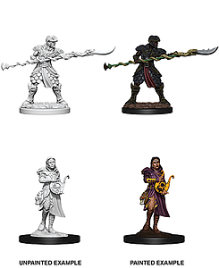 Dungeons & Dragons Nolzur's Marvelous Unpainted Miniatures: Male Yuan-Ti Pureblood Paladin and Female Yuan-Ti Pureblood Bard