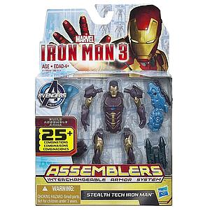 Iron Man Assemblers Interchangeable Armour System 3 3 3/4 Inch: Stealth Tech Iron Man