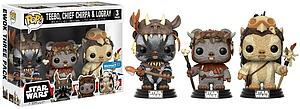 Pop! Star Wars Vinyl Bobble-Head Teebo, Chief Chirpa & Logray (3-Pack) Walmart Exclusive