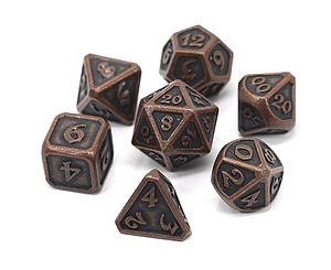 Metal Mythica 7-Dice Set: Dark Copper