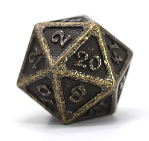 Big D20 - Mythica Dark Gold