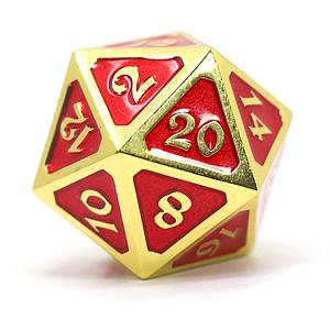 Big D20 - Mythica Gold Ruby