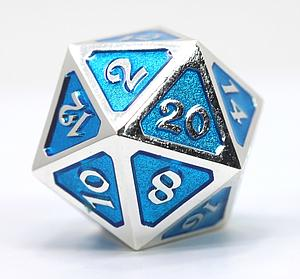 Big D20 - Mythica Platinum Aquamarine