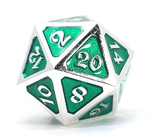 Big D20 - Mythica Platinum Emerald
