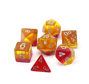 Poly RPG 7-Dice Set: Passion Fruit