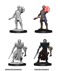 Dungeons & Dragons Nolzur's Marvelous Unpainted Miniatures: Human Warlock (Male)