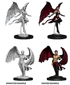 Dungeons & Dragons Nolzur's Marvelous Unpainted Miniatures: Succubus and Incubus