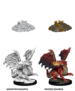 Dungeons & Dragons Nolzur's Marvelous Unpainted Miniatures: Red Dragon Wyrmling