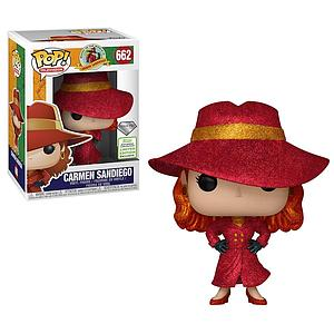 Pop! Television Where In the World is Carmen Sandiego? Vinyl Figure Carmen Sandiego (Diamond Collection) #662 2019 Spring Convention Exclusive