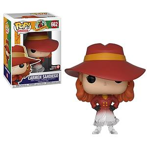 Pop! Television Where In the World is Carmen Sandiego? Vinyl Figure Carmen Sandiego (Disappearing) #662 2019 GameStop Exclusive (EB Games Sticker)