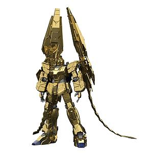 Gundam High Grade Universal Century 1/144 Scale Model Kit: #227 RX-0 Unicorn Gundam 03 Phenex (Unicorn Mode) (Narrative Ver.) (Gold Coating)