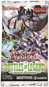 YuGiOh Trading Card Game Pack: Battle of Legend - Hero's Revenge Booster Pack