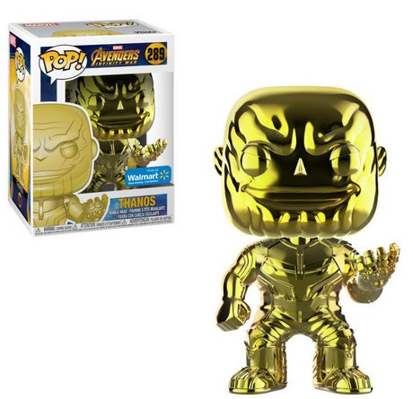 Pop! Marvel Avengers Infinity War Vinyl Bobble-Head Thanos (Yellow Chrome) #289 Walmart Exclusive