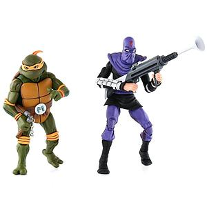 Teenage Mutant Ninja Turtles 2-Pack: Michelangelo vs. Foot Soldier