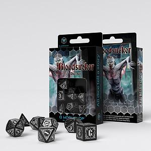 Bloodsucker Dice Set: Black & Silver