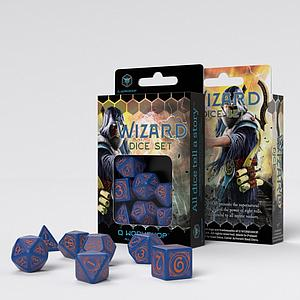 Wizard Dice Set: Dark Blue & Orange