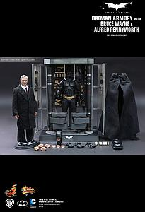 The Dark Knight Movie Masterpiece Series 1/6 Scale: Batman Armory with Alfred Pennyworth & Batman