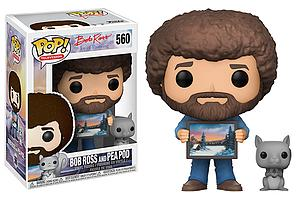 Pop! Television Bob Ross: The Joy of Painting Vinyl Figure Bob Ross with Pea Pod #560 Exclusive