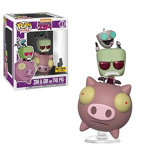 Pop! Rides Television Invader Zim Vinyl Figure Zim & Gir on the Pig #41 Hot Topic Exclusive