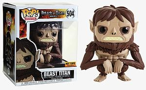"Pop! Animation Attack on Titan Vinyl Figure 6"" Beast Titan #504 Hot Topic Exclusive"