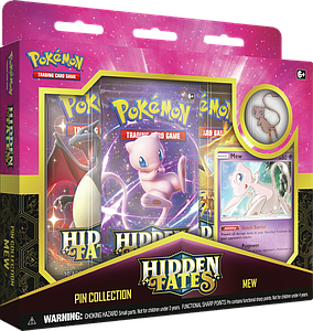 Pokemon Trading Card Game: Hidden Fates Pin Collection - Mew